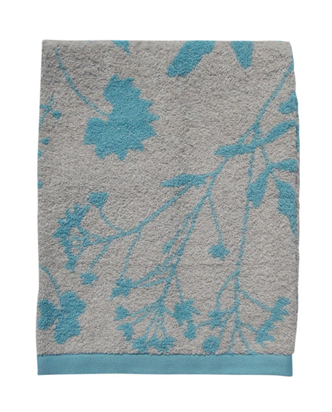 Floral cotton linen towel, made in Portugal