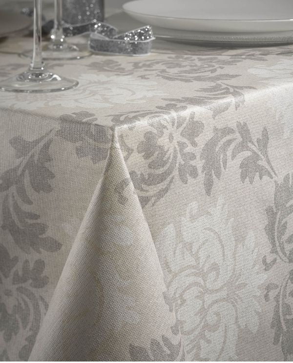 Stain resistant tablecloth with baroque print, made in Spain - Shopping Blue