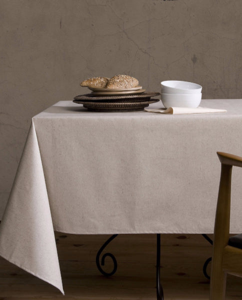 Stain repellent cotton linen tablecloth made in Spain