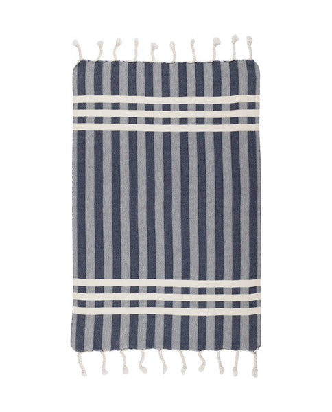 Cotton kitchen towel with fringes, made in Turkey - Shopping Blue