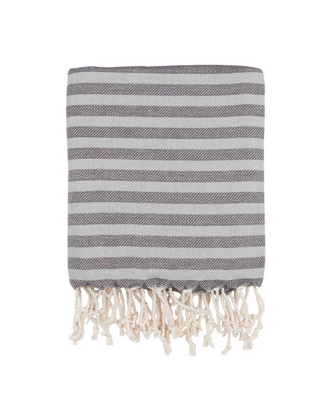 Peshtemal Turkish towel, herringbone weave, cotton - Shopping Blue
