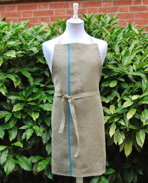 Pure linen French apron, made in France