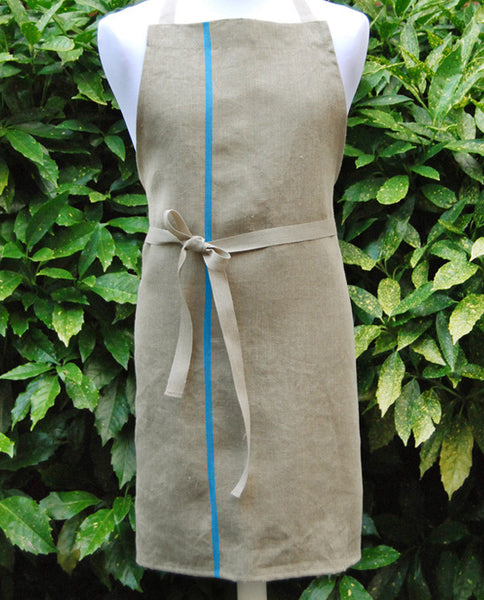Apron, pure linen, made in France - Shopping Blue