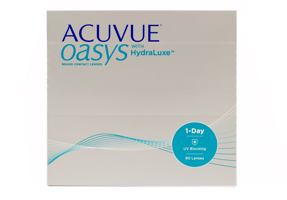 03dc958ed31 Acuvue Oasys 1-Day with Hydraluxe 90 Pack - VILLAGE EYECARE CO.
