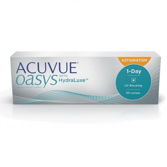 Acuvue Oasys 1-Day Astigmatism with Hydraluxe 30 Pack