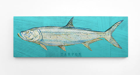 Tarpon Illustration form John W. Golden's Saltwater Fish Series