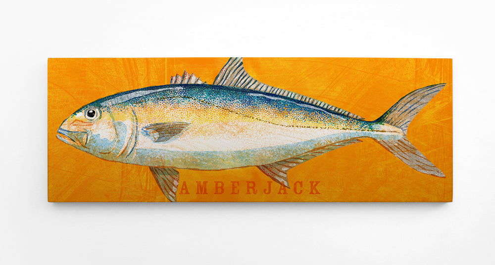 "The Big One- Large Saltwater Fish Art Block- Pick the Print- 6.5""x18"""