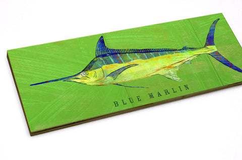 Blue Marlin Art Block by John W. Golden