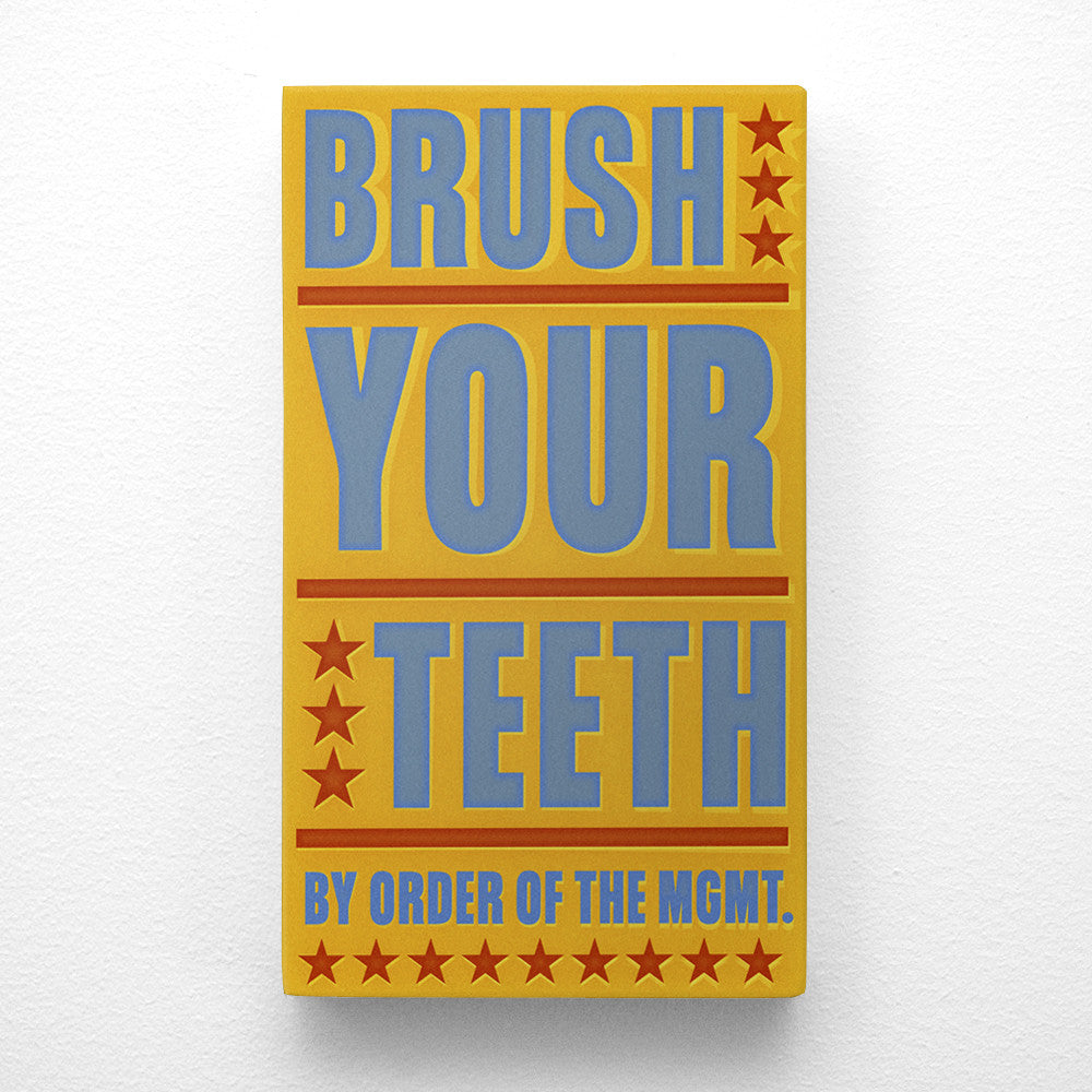 John W. Golden's Brush Your Teeth Art Block