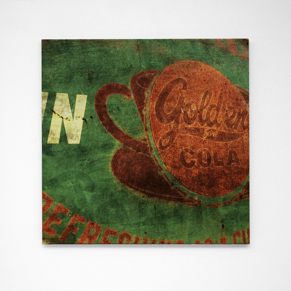"Golden Girl Cola No. 1- 24"" x 24"" Art Box"