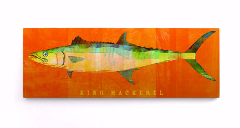 King Mackerel Print Block by John W. Golden