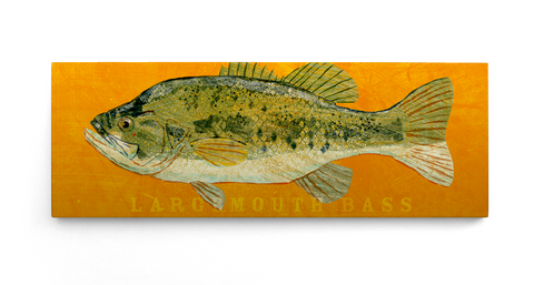 Largemouth Bass Art Block by John W. Golden
