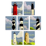 North Carolina Lighthouses Art by John W. Golden