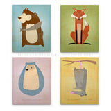 woodland nursery print art blocks