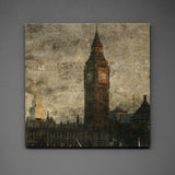 "St. Stephen's No. 1- 24"" x 24"" Art Box - Big Ben Photo"