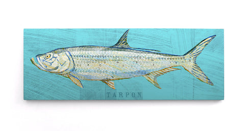 Tarpon Art Block by John W. Golden