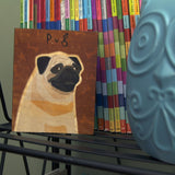 "Whimsical Dog Art Block 4"" x 5"""