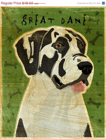 Great Dane Art Print by John W. Golden