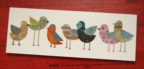 Bird Art - Big Flock No. 1 Art Block