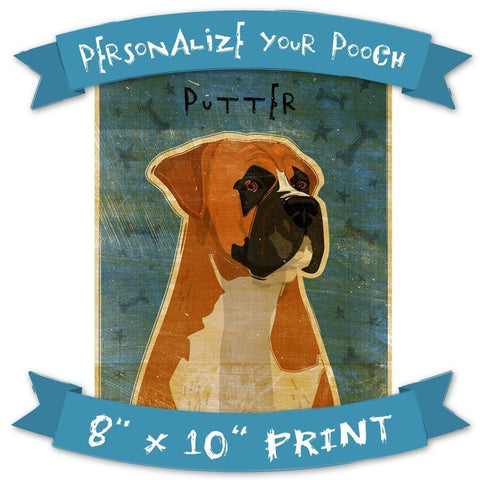 Customized Dog Art Print by John W. Golden
