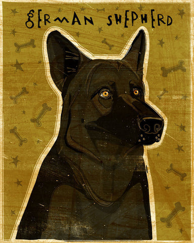 Black German Shepherd Print