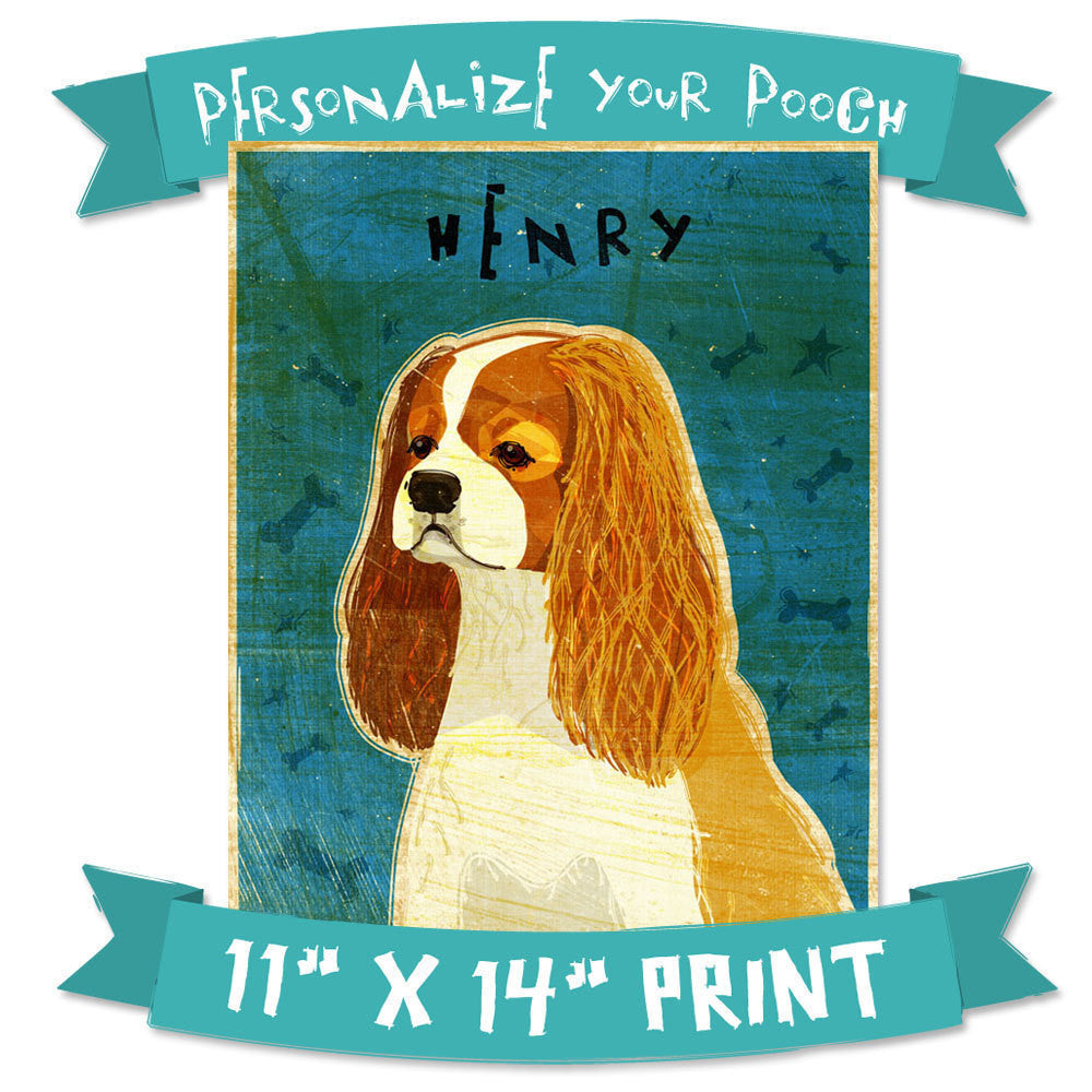 "Personalize Your Pooch- Dog Art Print- 11"" x 14"""