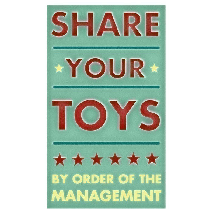 "Share Your Toys Fine Art Print 6"" x 10"""