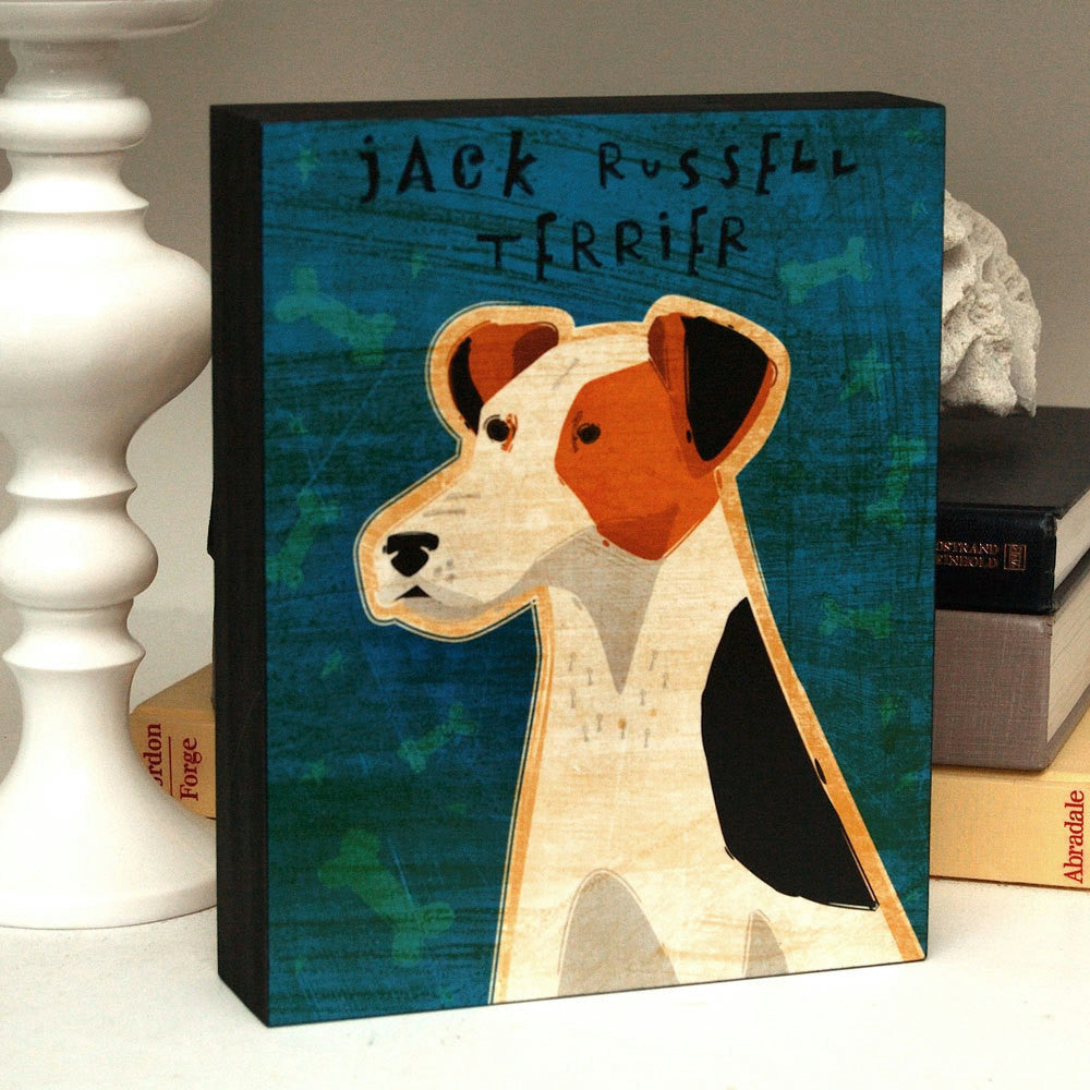 "Whimsical Dog Art Box- Pick Your Pooch- 8"" x 10"""