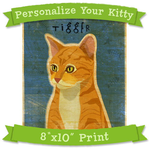 "Personalize Your Kitty Print- 8""x10"""