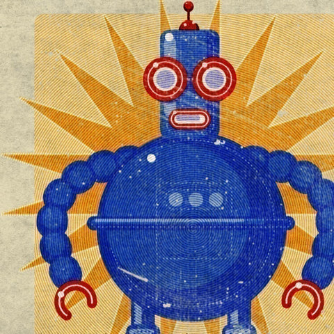 "Boris Robot Box Art Print 8"" x 10"""