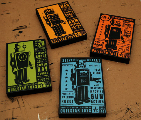 Quelstar Robot Art Blocks- 4 Print Set