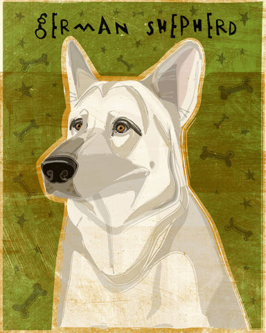 White German Shepherd Print 8 x 10