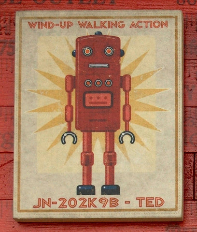 "Retro Robot Art- 8"" x 10"""