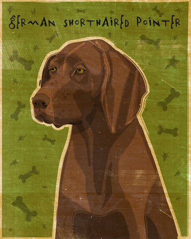 "German Shorthaired Pointer Print Liver 8"" x 10"""