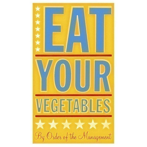 Eat Your Vegetables Typographic Art Print