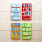 Set of 4 Order of Management Kids Room Art