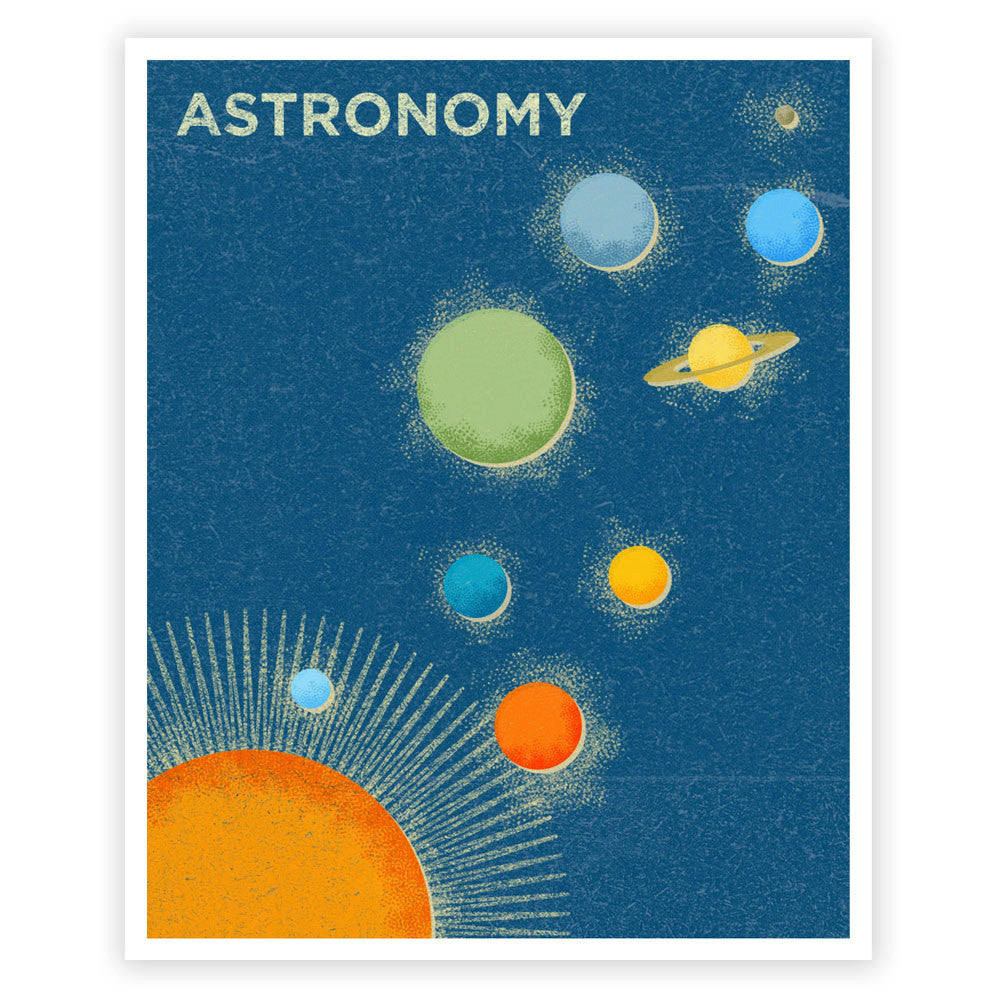 Astronomy Kids Science Wall Art Print