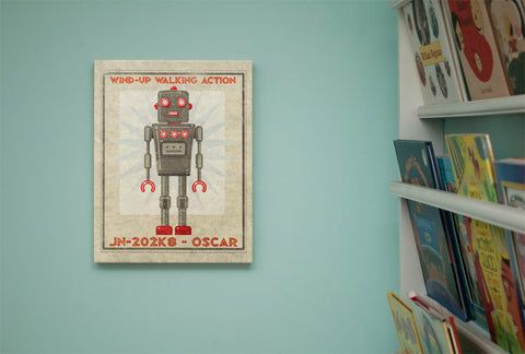 Oscar Robot Sci Fi Wall Art - Retro Robot Art