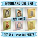 Woodland Critter Art Boxes- Set of 6