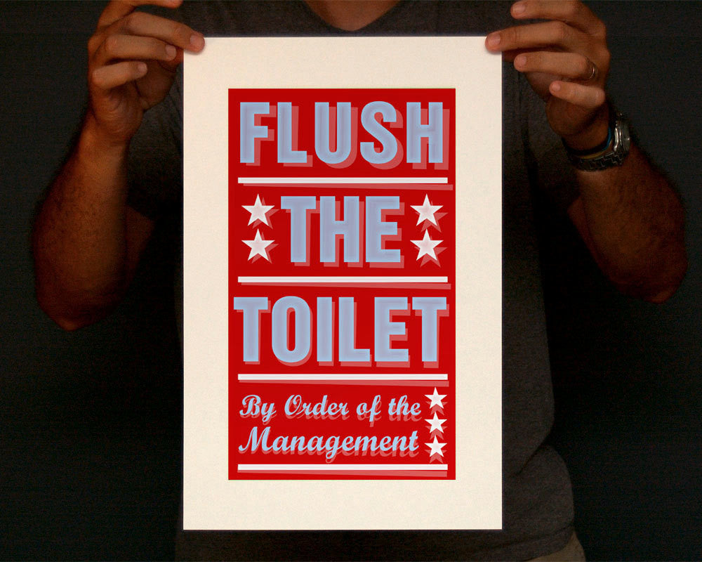 "Pick Your By Order of the Management Print- 8""x14"" fits 11""x17"" frame"