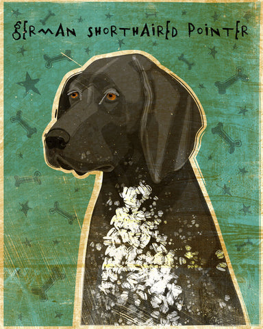 Black and Roan German Shorthaired Pointer Print