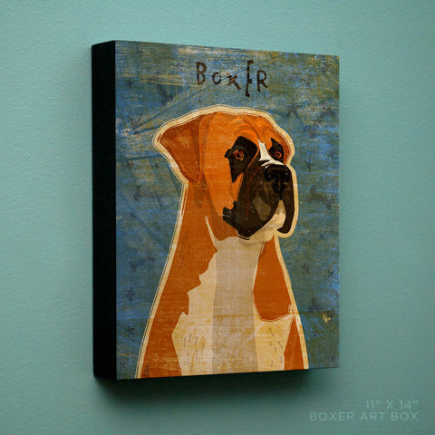 "Boxer Art Box 11"" x 14""- Dog Wall Art"