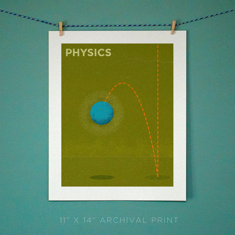 "Physics Art Print 11"" x 14"""