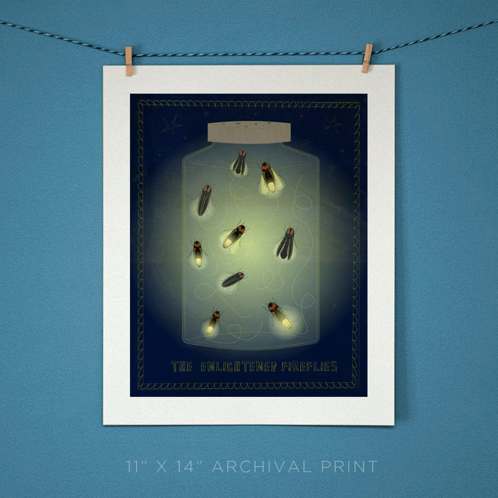 Firefly Art Print Art for Kids Room