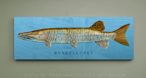 Muskellunge Art Block