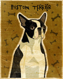 "Boston Terrier Art Block 4"" x 5"""