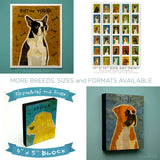 Border Collie Art Block