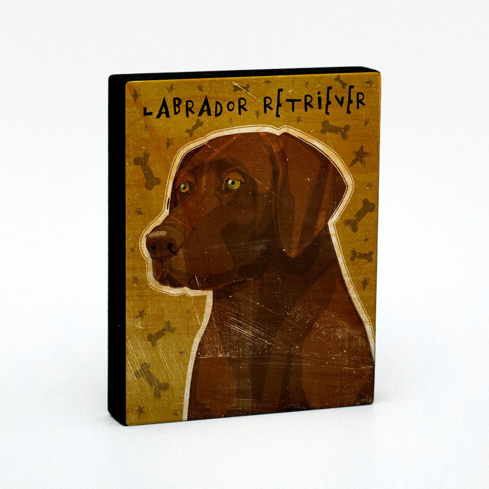 "Chocolate Labrador Art Block 4"" x 5"""