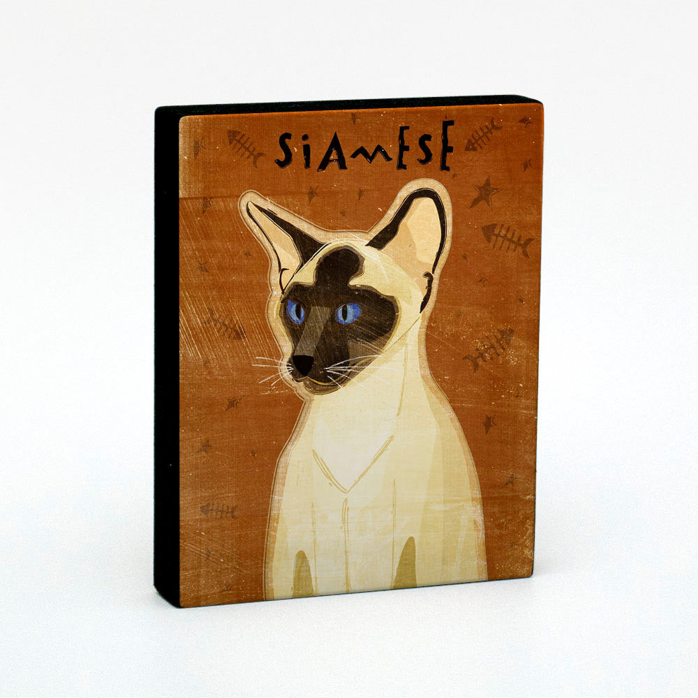 "Siamese Seal Point Art Block 4""x5"""