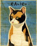 "Calico Cat Art Block 4""x5"""